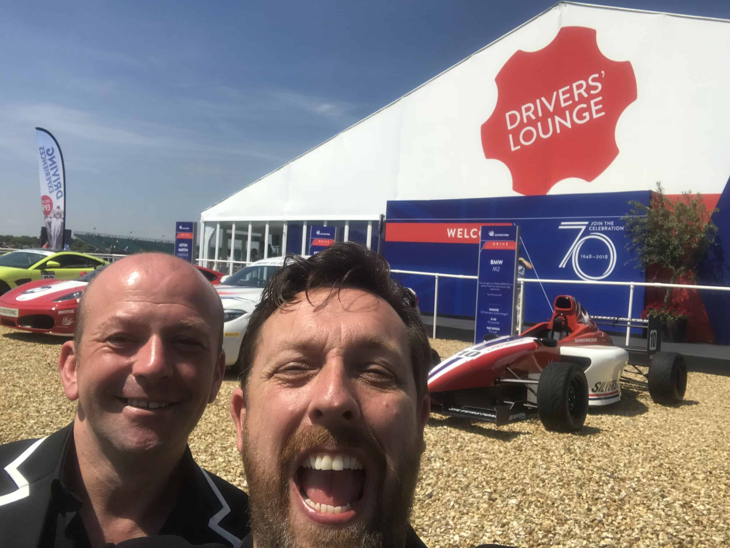 Outside the Drivers Lounge at the British Grand Prix